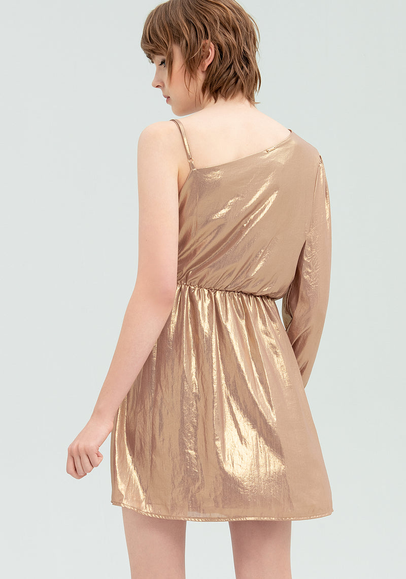 One-shoulder satin dress-FRACOMINA-FR20SP453