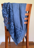 Allucia Linen and Lace Rectangle scarf