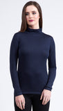 Vassalli 100% Merino Basic Long Sleeve Polo Neck Top