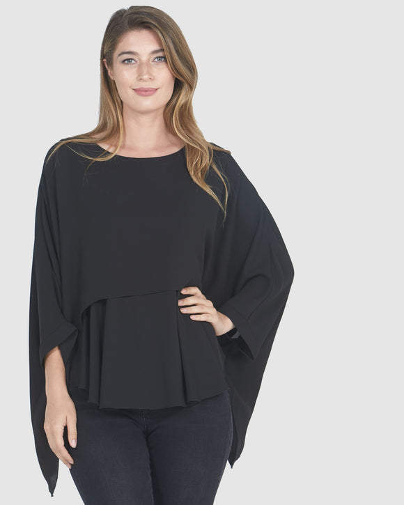 Faye Black Label Two Piece Top Black - Women's Winter Fashion