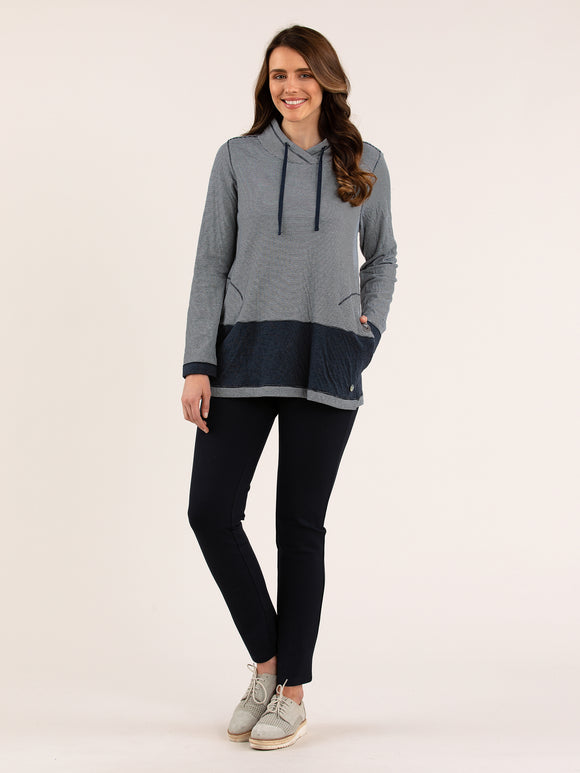 Yarra Trail YT20W7065 Panel Contrast Panel Sweater