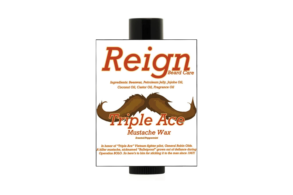 """Triple Ace"" Mustache Wax"