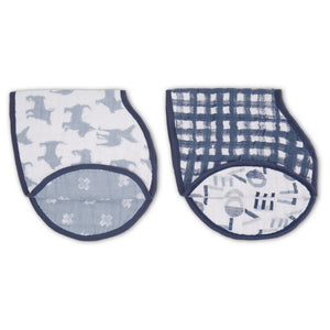 waverly classic muslin burpy bibs 2-pack