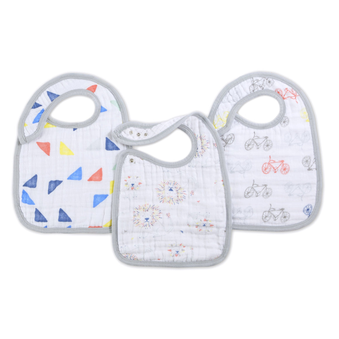 aden + anais leader of the pack 3-pack classic snap bibs