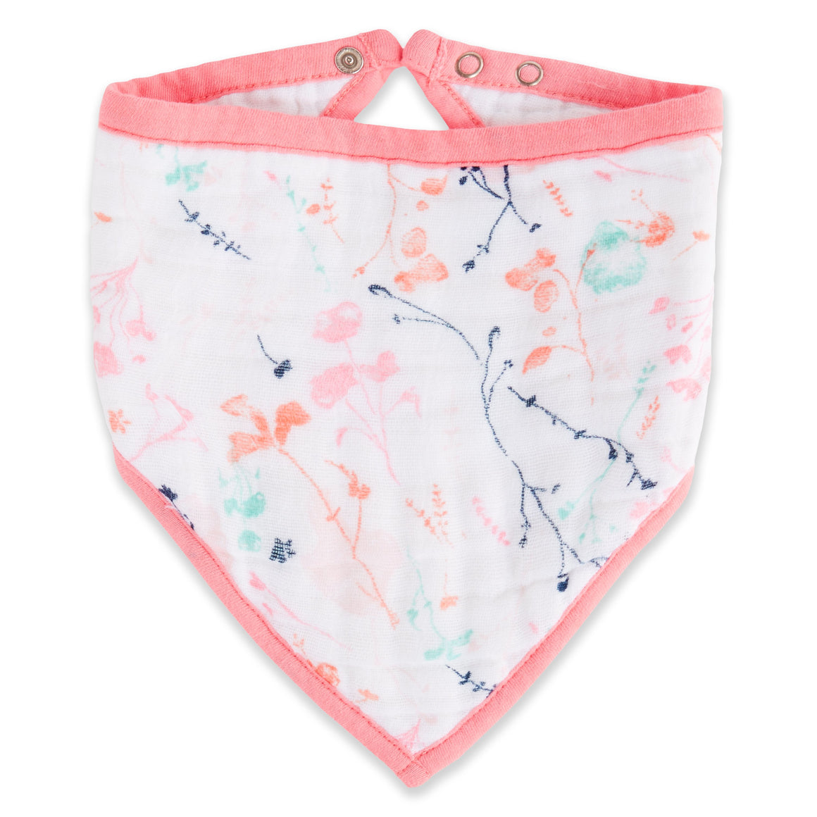 petal blooms muslin bandana bib single