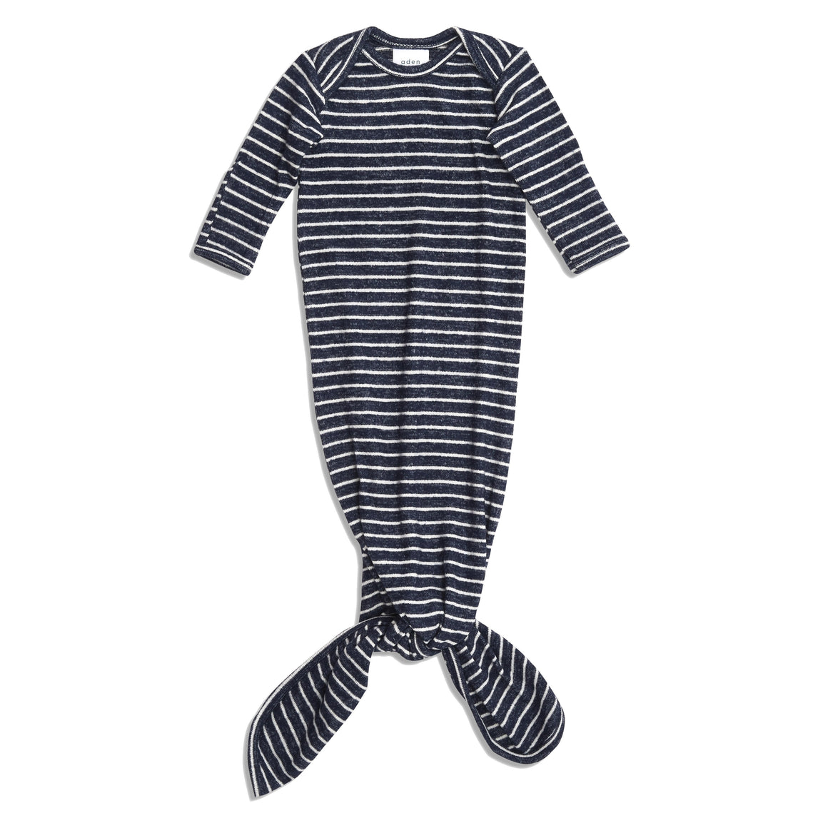 aden+anais snuggle knit gown - navy stripes