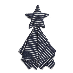 aden+anais snuggle knit lovey -navy stripes