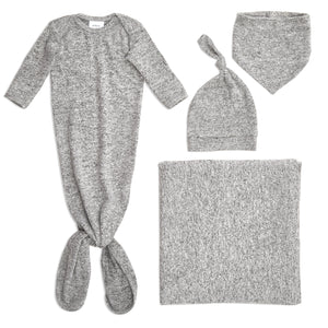 aden+anais snuggle knit full set - heather grey