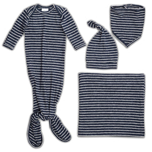 aden+anais snuggle knit full set - navy stripes