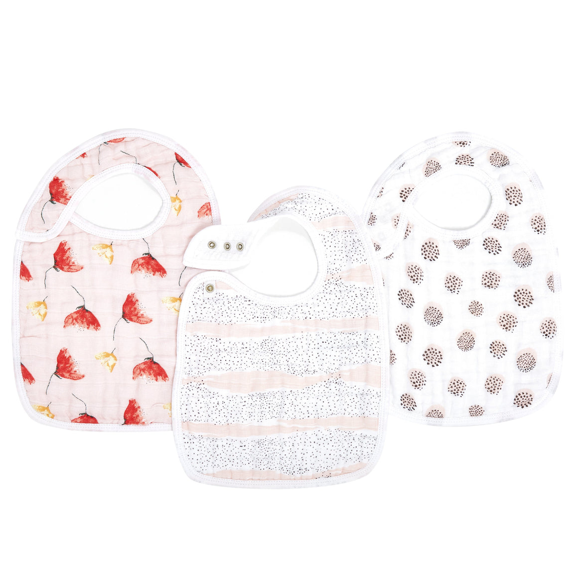 aden+anais picked for you 3 pk classic snap bibs