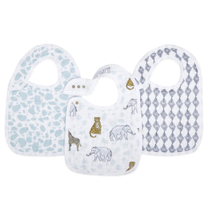 aden+anais jungle 3 pk classic snap bibs