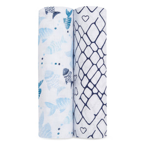 aden+anais gone fishing classic 2 pack swaddles