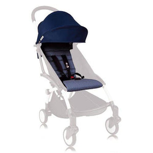 ##TEST BABYZEN YOYO 6+ Seat Pad and Canopy Only - Air France Navy