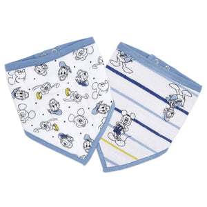 aden+anais essentials DISNEY Mickey 2 pack bandana bibs