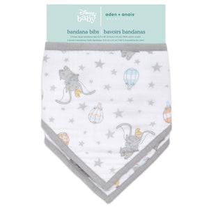 aden+anais essentials DISNEY Dumbo 2 pack bandana bibs