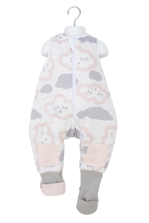 Warmies 6-12M Sleeping Bag with Legs No Arms 2.5 TOG Clouds Pink