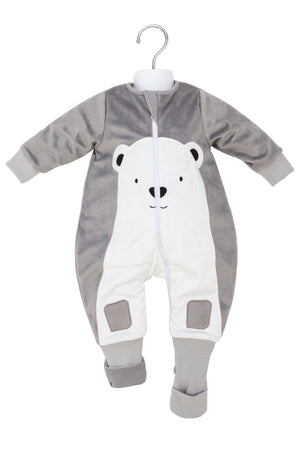 12-24m FLEECE Warmies Sleeping bag with Arms and Legs 3.5 TOG - POLAR BEAR