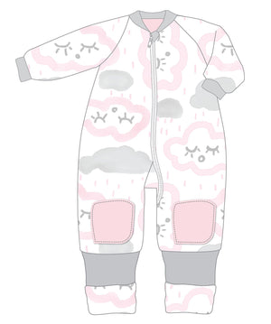 Warmies 12-24m Cotton With Arms 3.0 TOG CLOUDS PINK