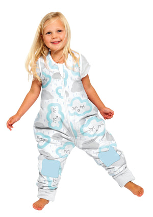 Coolies No Arms Cotton 2-3Y 1.0 TOG CLOUDS - PEPPERMINT
