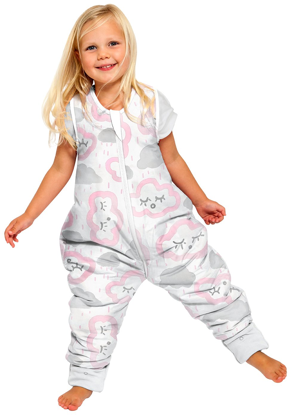 Coolies No Arms Cotton 2-3Y 1.0 TOG CLOUDS - PINK
