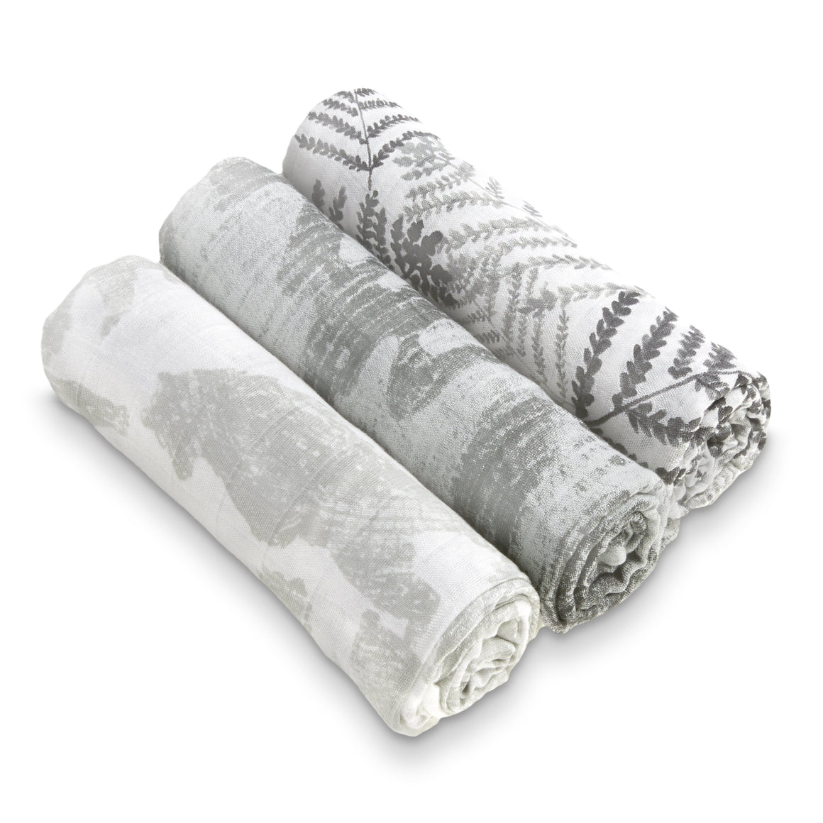 aden+anais white label foragers 3 pack silky soft swaddles