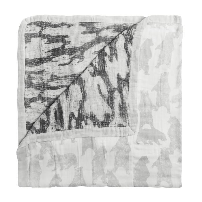 aden + anais white label Foragers-bear silky soft dream blanket