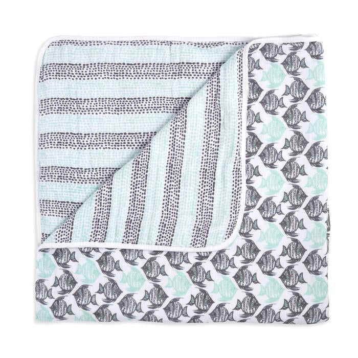 aden + anais white label seaside classic muslin dream blanket