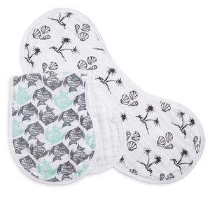 aden+anais white label seaside 2 pack burpy bibs