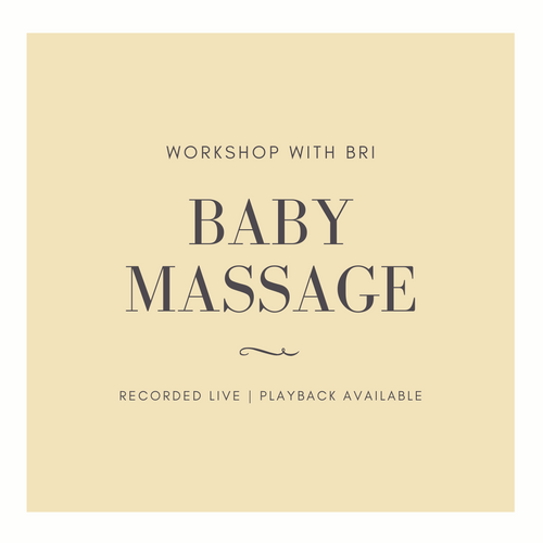 Baby Massage Workshop - Infant Massage with Bri