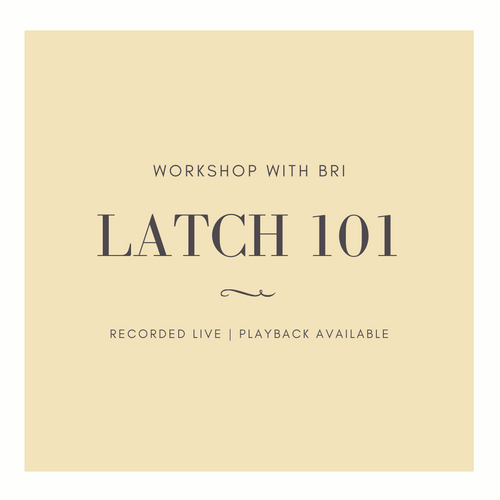 Latch 101 Workshop - Infant Massage with Bri