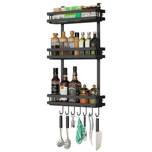 3 Tier Kitchen Refrigerator Storage Rack Fridge Seasoning Organizer Hang Shelf