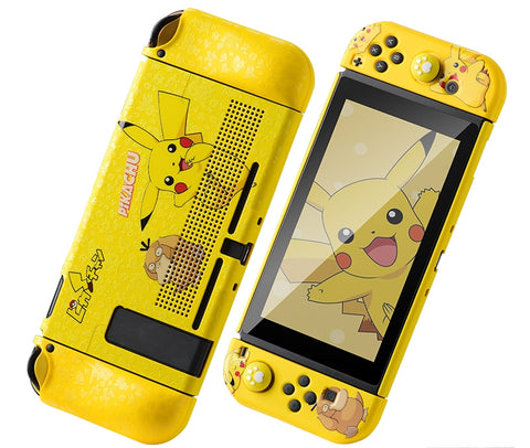 Nintendo Switch Protection Casing Cover__ Pikachu & Psyduck