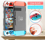 Nintendo Switch Transparent Clear SOFT Protector Case Cover