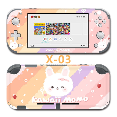 Nintendo Switch Lite Skin Sticker __  Colourful Bunny X-03