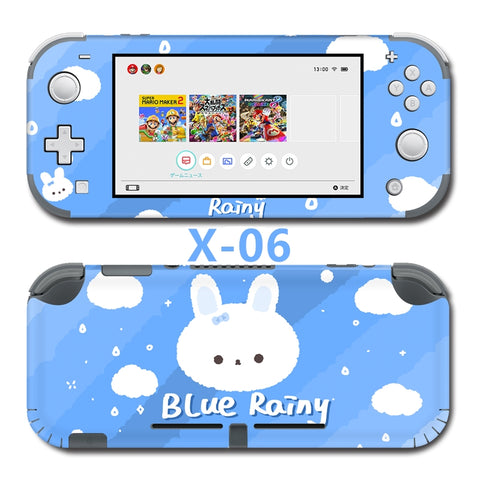 Nintendo Switch Lite Skin Sticker __  Blue Rainy Bunny X-06