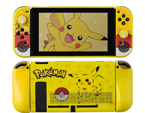 Nintendo Switch Protection Casing Cover__ Pokeball & Pikachu