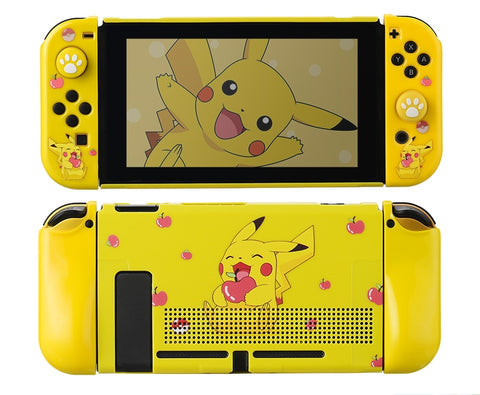 Nintendo Switch Protection Casing Cover__ Pikachu with Apple