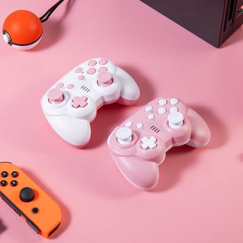 Wireless GTcoupe Pro Controller Sakura Pink Controller for Nintendo Switch