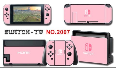 Nintendo Switch Skin Sticker __ Pink 2007
