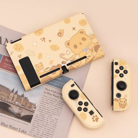 Bakery Bear Brown Pastel colors__Nintendo Switch Protection Casing Cover