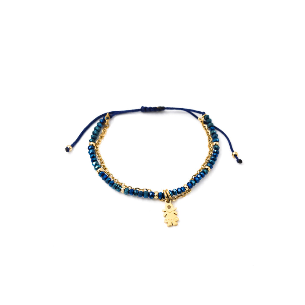 Pulsera Julieta simple tono azul - niña