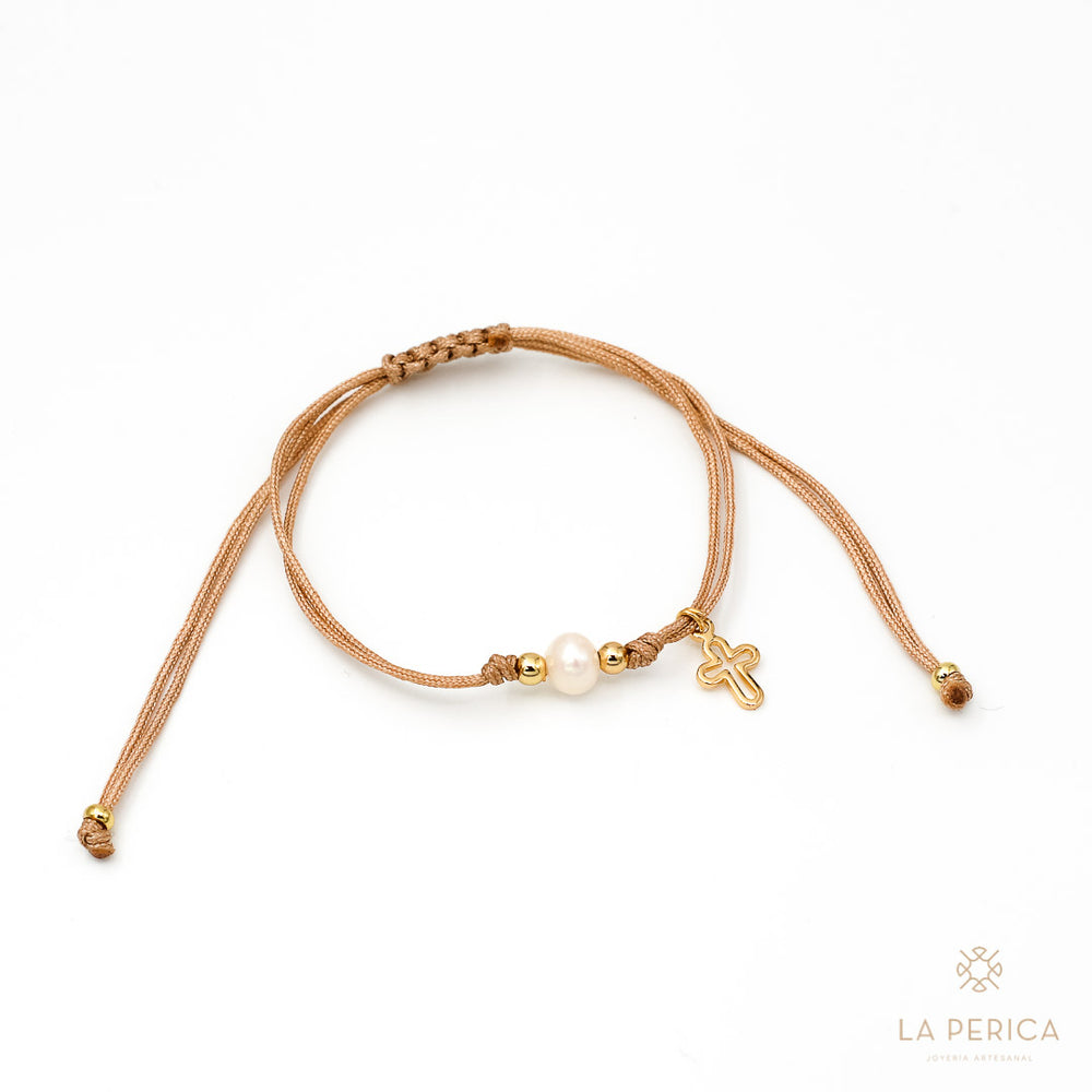 Pulsera Lia Perla Cruz Goldfilled