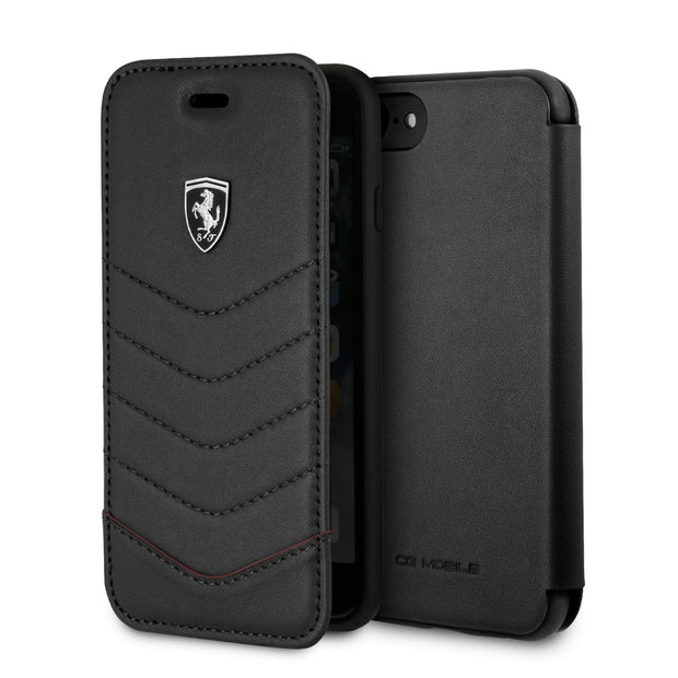 Ferrari Off Tracked Quilted Wallet Real Leather