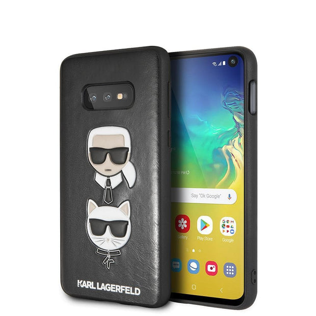Karl Lagerfeld P.U. Leather Karl & Choupette's Heads - Samsung