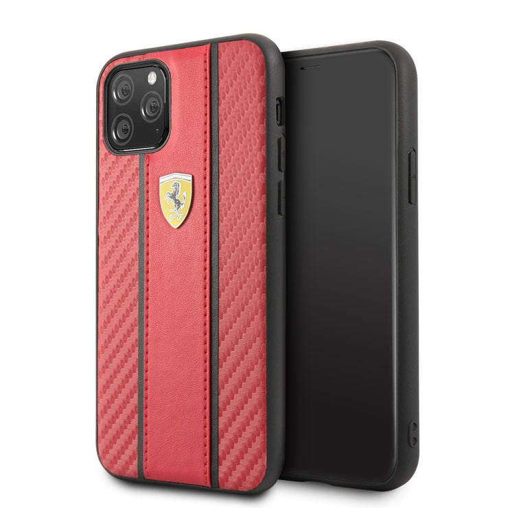 Ferrari On Track Scuderia Carbon Band PU Leather with Carbon Fiber Inspired Design