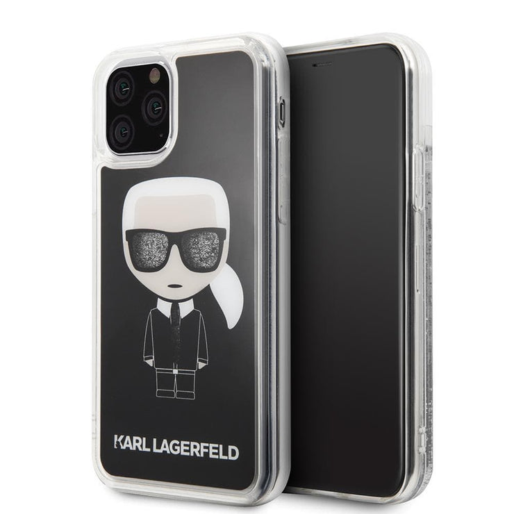 Karl Lagerfeld Hard Case Black Glitter