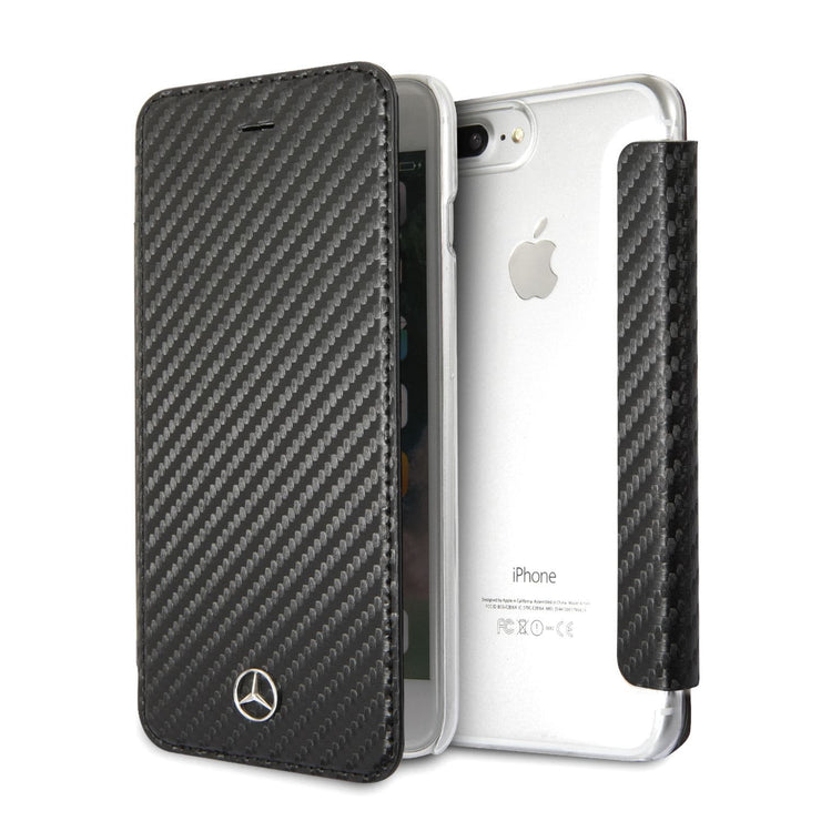 Mercedes-Benz Dynamic Line Wallet PU Leather with Carbon Fiber Inspired Design
