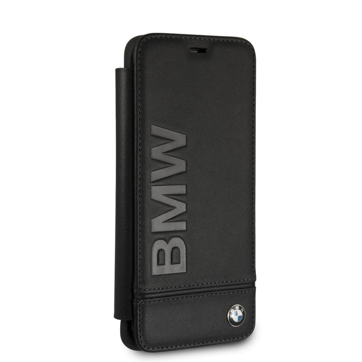 BMW Real Leather with Imprint Logo Wallet - Samsung