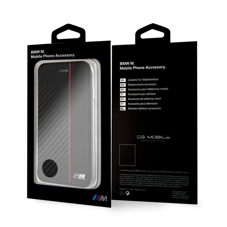 BMW M Series Carbon Fiber Effect with Stripe Wallet