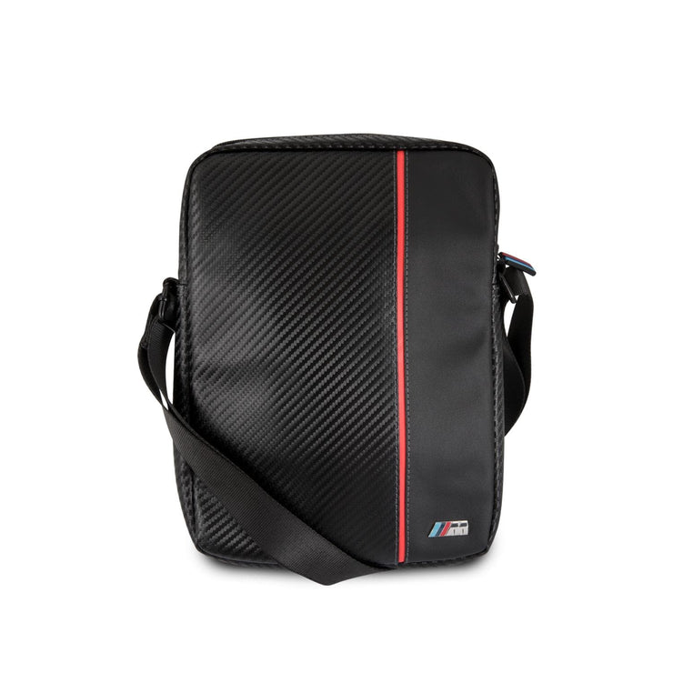 BMW M Series Tablet Bag Carbon Fiber Effect with Red Stripe